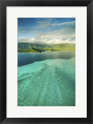 Framed Sandbar Morning Vertical Print