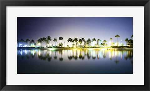 Framed Rainbow Tower Pond Print