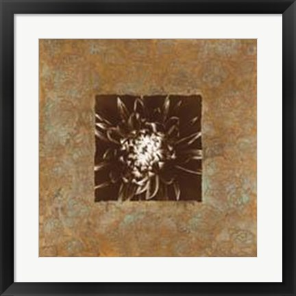 Framed Dahlia on Copper I Print