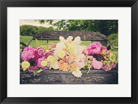 Framed Flower Bench Print