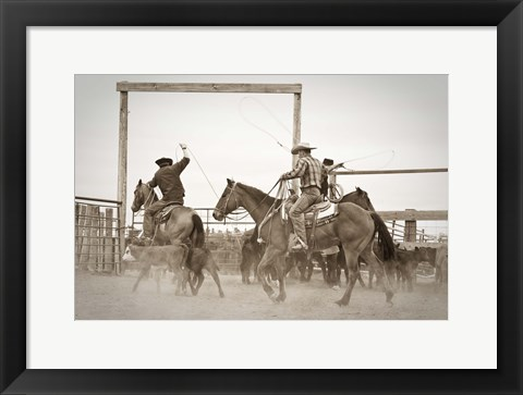 Framed Red Top Ranch Print