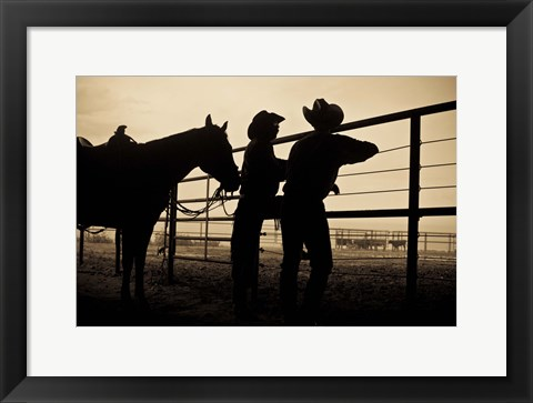 Framed Shooing the Breeze Print