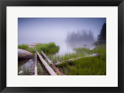 Framed Lower Sand Creek Lake Print