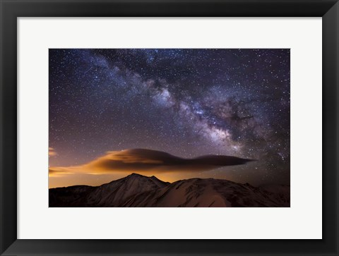 Framed Milky Way Over The Rockies Print