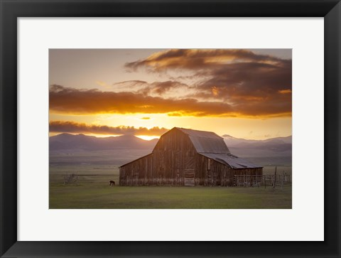 Framed Wet Mountain Barn II Print
