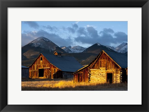 Framed Wet Mountain Valley Sunrise Print