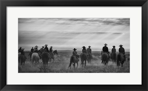 Framed Riding Out Print
