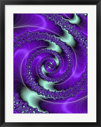 Framed Purple and Teal Print