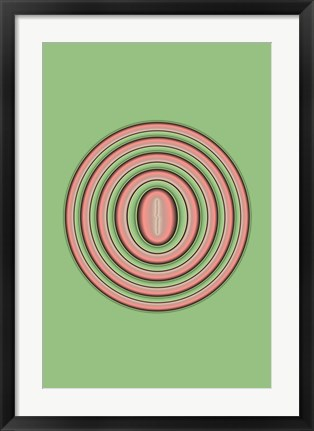 Framed Rings Print