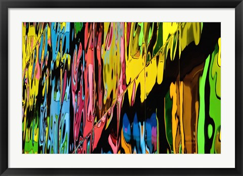 Framed Melting Crayons II Print