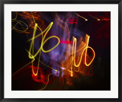 Framed neon art