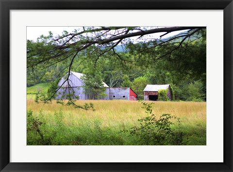 Framed Beyond The Battenkill Print