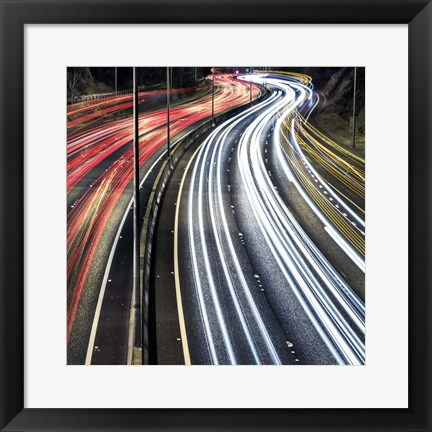 Framed Lines And Curves Print