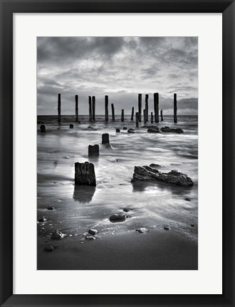 Framed Port Willunga BW Print