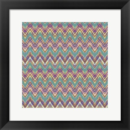 Framed Chevron Waves II Print