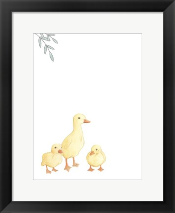 Framed Baby Animals III Print
