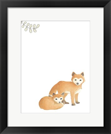 Framed Baby Animals V Print
