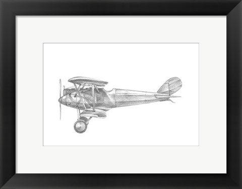 Framed Technical Flight III Print
