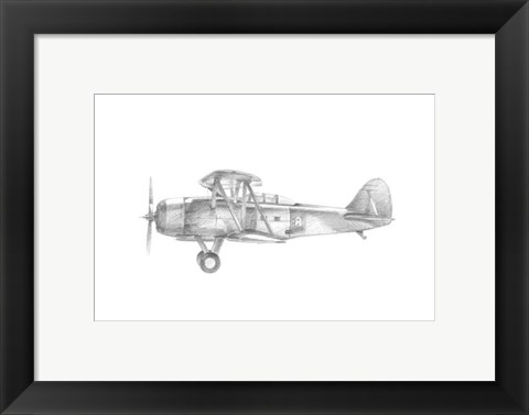 Framed Technical Flight IV Print