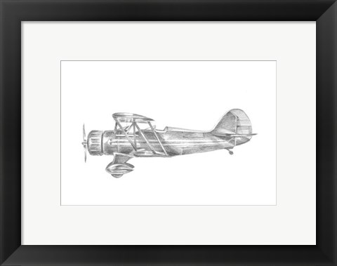 Framed Technical Flight VI Print