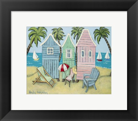 Framed At the Beach II Print