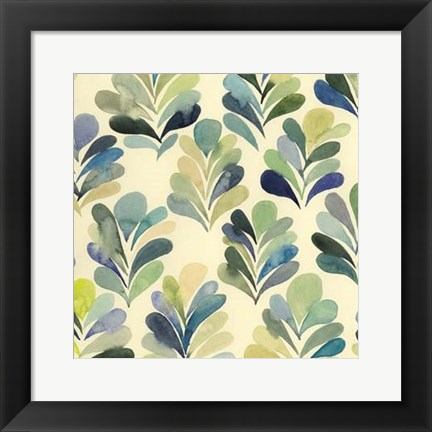 Framed Watercolor Palms I Print