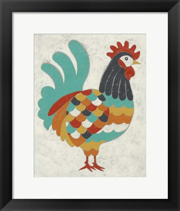 Framed Country Chickens I Print