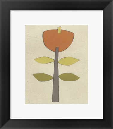 Framed Simple Stems V Print