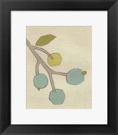 Framed Simple Stems VIII Print