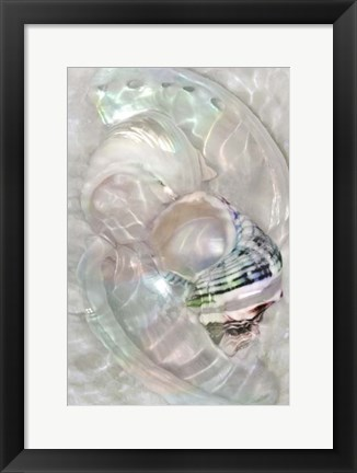 Framed Underwater Light Waves V Print