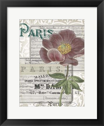 Framed Musical Paris I Print