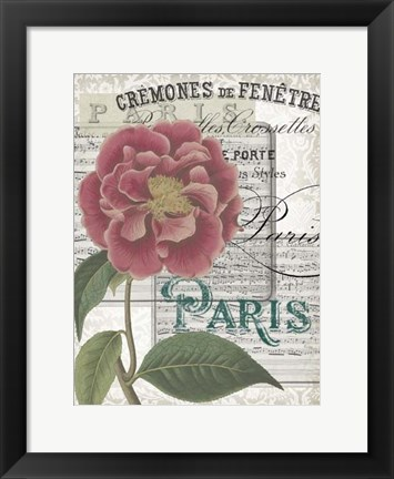 Framed Musical Paris III Print