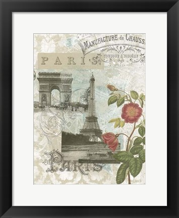Framed Visiting Paris Print