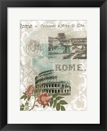 Framed Visiting Rome Print