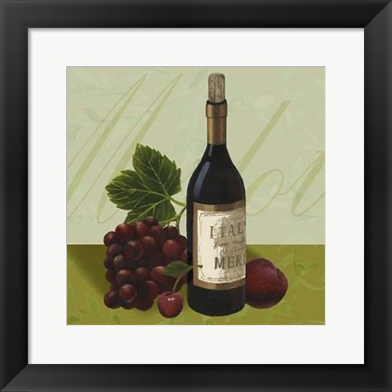 Framed Wine Country II Print