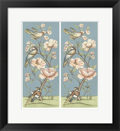 Framed Pastel Chinoiserie I 2-Up Print