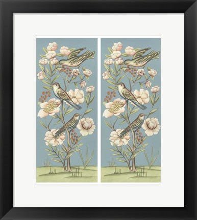 Framed Pastel Chinoiserie II 2-Up Print