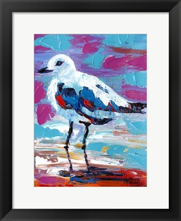 Framed Seaside Birds II Print