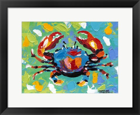 Framed Seaside Crab I Print
