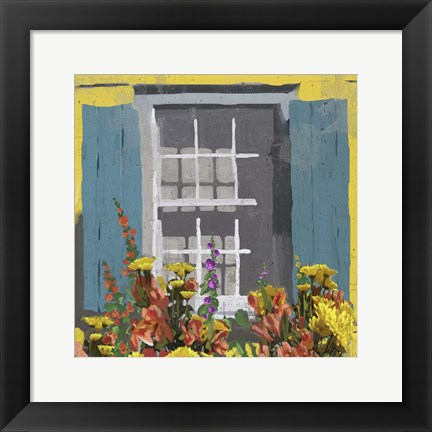Framed Window Floral I Print