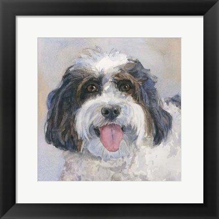 Framed Archie Daisy Dog Print
