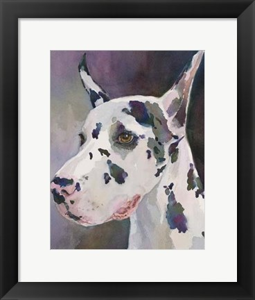 Framed Mary Kay Great Dane Print
