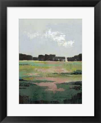 Framed Glowing Pasture II Print