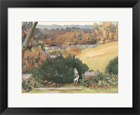 Framed Watercolor Garden III Print
