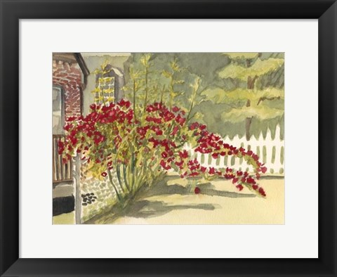 Framed Watercolor Garden VI Print