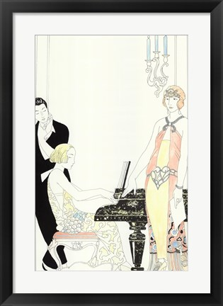 Framed Arte Deco Fashion I Print