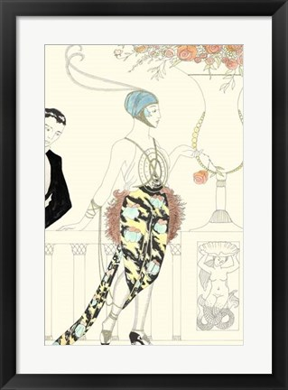 Framed Arte Deco Fashion II Print