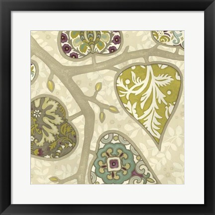 Framed Patterns in Foliage II Print