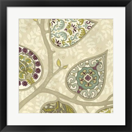 Framed Patterns in Foliage III Print