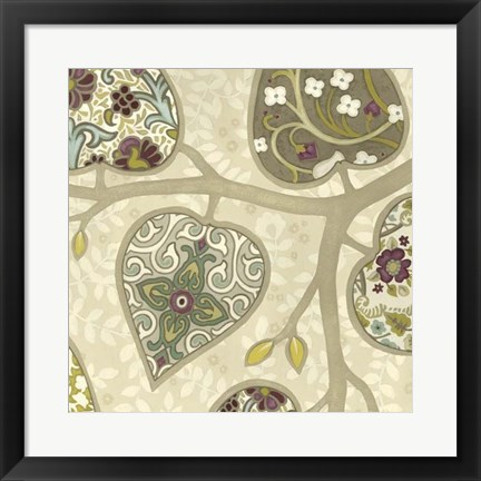 Framed Patterns in Foliage IV Print